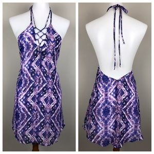 NEW Show Me Your MuMu Lo Lace Up Mini Dress Halter